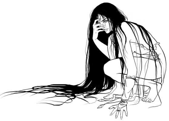 Longs .. cheveux noirs
